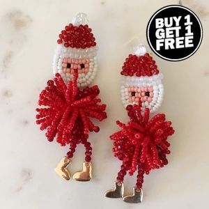BOGO! Beaded Santa Earrings
